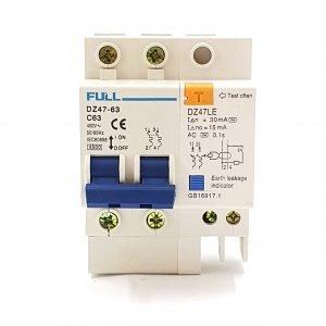 SJ066 Earth Leakage Circuit Breaker 63 Amp 2 Pole Protection – AC Earth Leakage Circuit Breaker 63 Amp 2 Pole.